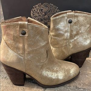 Vince Camuto Metallic Gold Booties